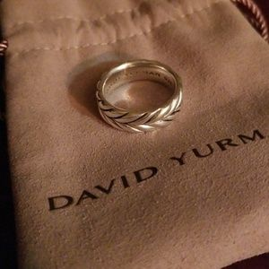 David Yurman Men's Sterling Silver Chevron Band